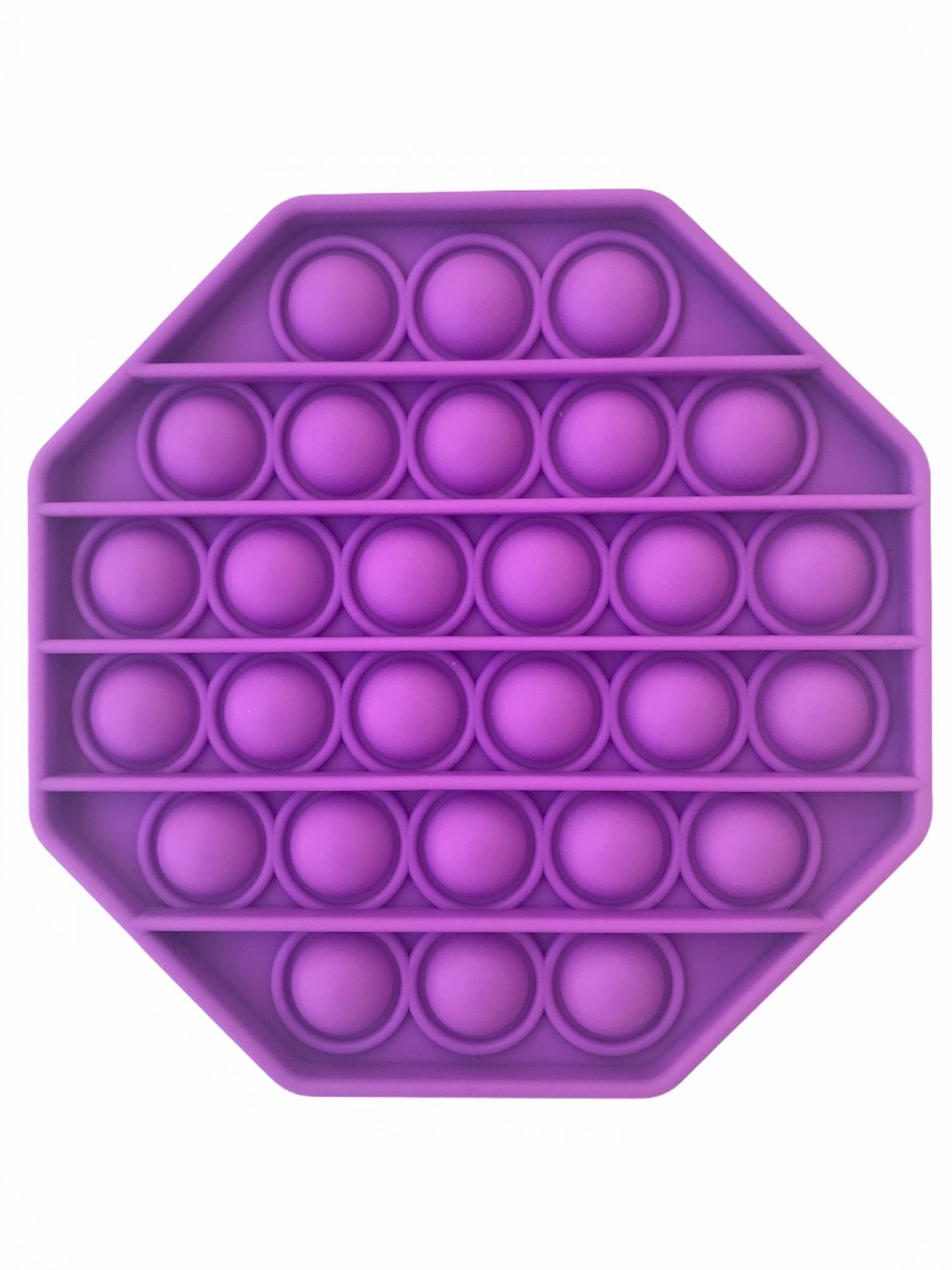 LIVYU LIFE Push pop Bubble Fidget Toy, Stress Relief and Anti-Anxiety Tools Sensory Toy for Autism to Relieve Stress for Kids and Adults (Octagonal Purple)