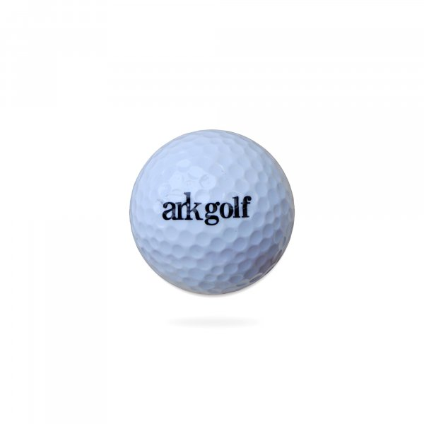 Ark Golf Range Ball - White Colour - 2 Pcs Solid Construction with Dupont Surlyn cover( Pack of 36 balls )