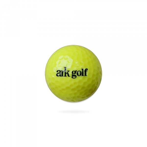 Ark Golf Range Ball - Yellow Colour - 2 Pcs Solid Construction with Dupont Surlyn cover ( Pack of 36 balls )