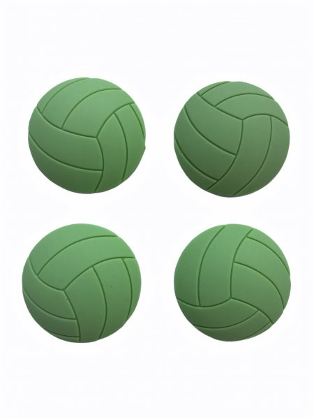 LIVYU LIFE Door Stoppers Wall Protector Size-50mm-Medium (4 PCS) with Strong 3M Adhesive - Shock Absorbent Wall Protectors for Door Knobs - Larger Door Bumper to Protect Every Wall Surface (Green-Textured)