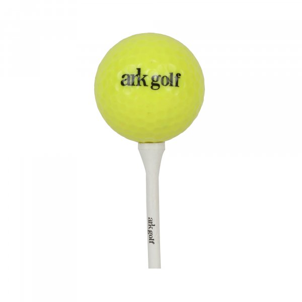 Ark Golf Bamboo Tees - Made from bamboo, stronger than traditional wood tees Size length-70mm-White-( 25 pcs Pack)